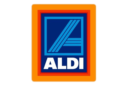 road markings via aldi logo
